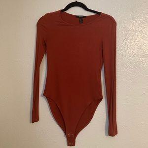 Like New Forever 21 Burnt Orange Bodysuit